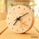 ■The table clock that it is same as a disney character, and the woodenness is small