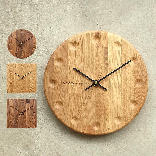 集成材のストライプ柄が美しい木製壁掛け時計「Wall Clock Block Stripe」