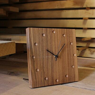 時と共に風合いを増す壁掛け・置き時計「Wall Clock square」