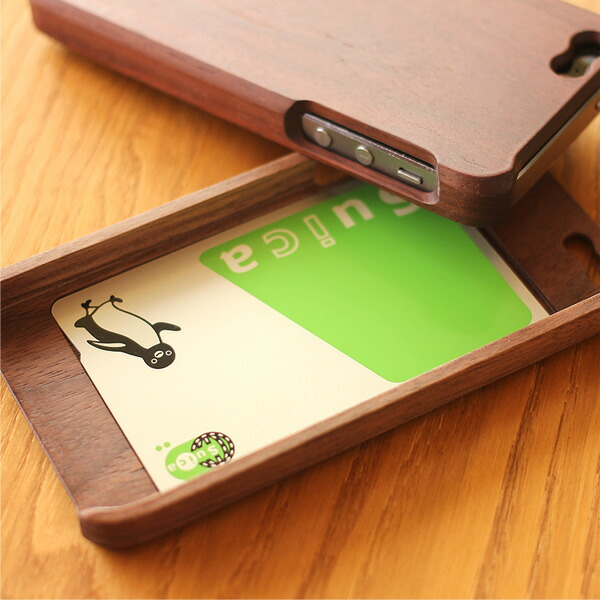 The wooden case which becomes a pass holder, the pass case
