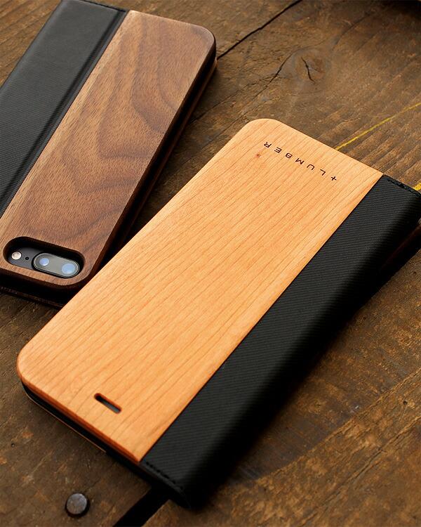 手帳型の木製スマートフォンケース iPhon7専用