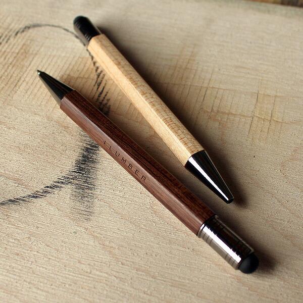 通常のボールペンでは味わえない、自然と手に馴染む心地よい天然木のタッチペン&ボールペンです。