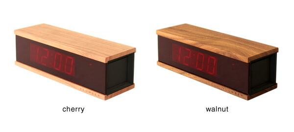 チェリーとウォールナットを使用した木製デジタルLEDアラームクロック