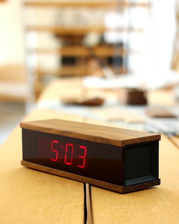 視認性の高いLED表示のおしゃれな木製デジタルアラーム時計
