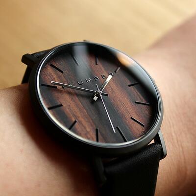 本木目を使用した美しい腕時計