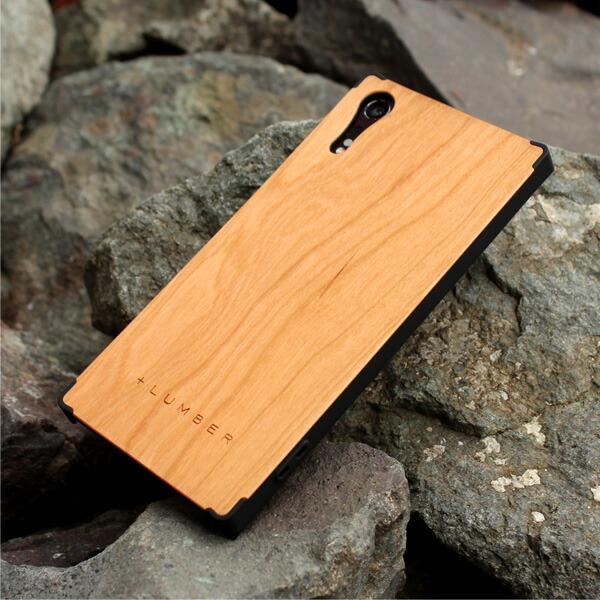 丈夫なハードケースと天然木を融合した Xperia XZ専用木製ケースもご用意