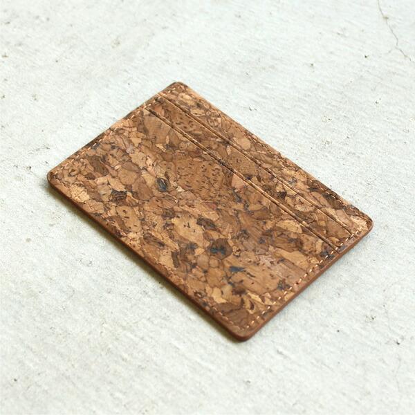 コルクレザーを活用したカードケース