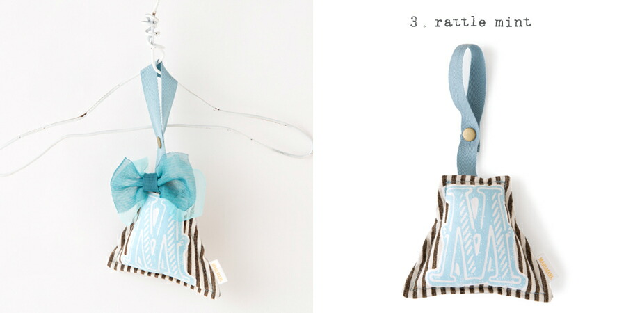 """chocolat"" 3 rattle mint"