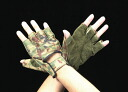 Camouflage leather gloves size L