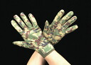 Camouflage rescue leather gloves size L