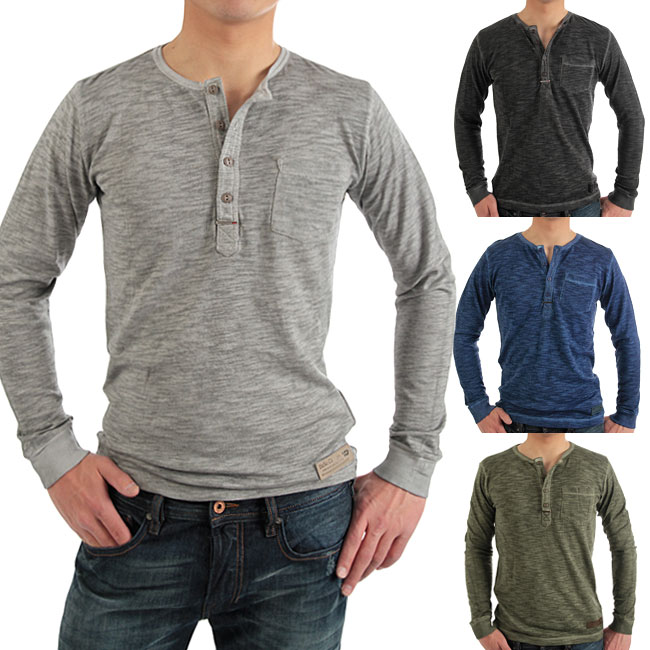 monkey | Rakuten Global Market: Long sleeve Henley t-shirt (light ...