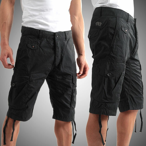 black cargo shorts mens the else
