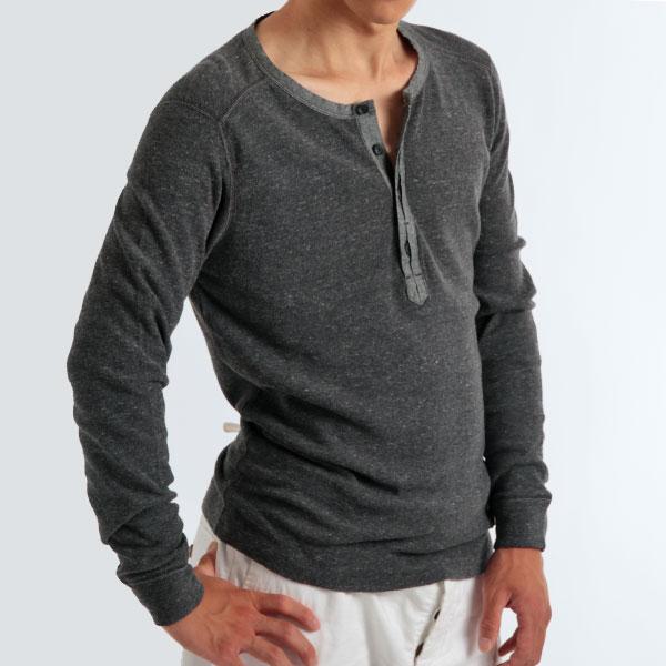 Monkey rakuten global market long sleeve henley t shirt for H m mens henley t shirt long sleeve