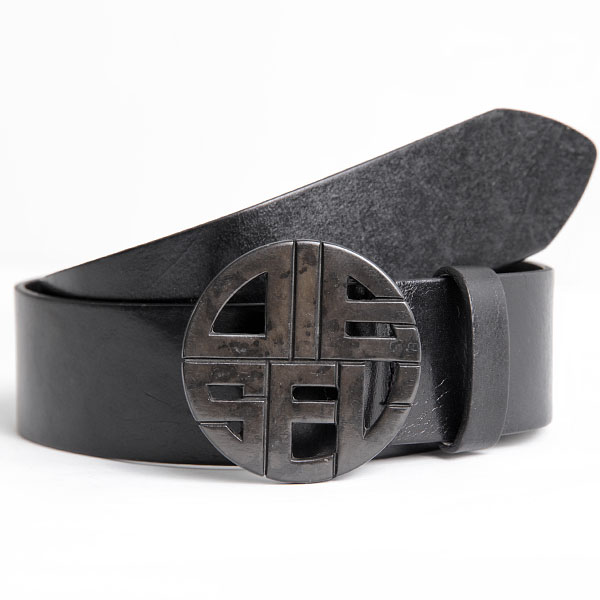 Vintage Leather Belt Beggy Belt Black Vintage