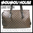 Louis Vuitton ■ Damier Chelsea ■ ファスナージップ with ■ tote bag N51119 ■ regular price ¥ 158,550 Vuitton Louis Vuitton Louis Vuitton Vuitton Tote Bag LV Womens LOUIS VUITTON [secondhand