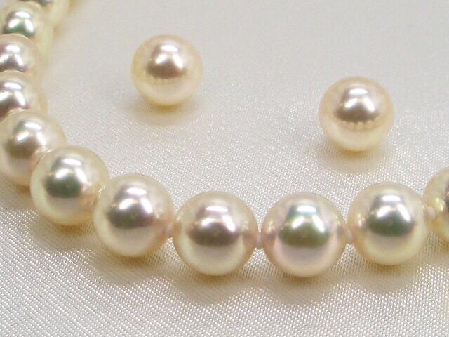 花珠真珠ネックレス ピアスorイヤリング 6.5〜7.0mm アップ