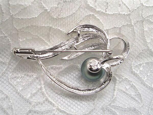 真珠,パール,ブローチ,クロチョウ,黒蝶