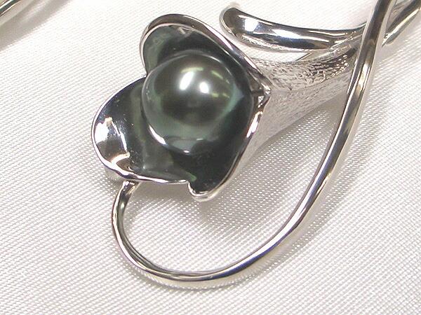 黒蝶真珠のブローチ
