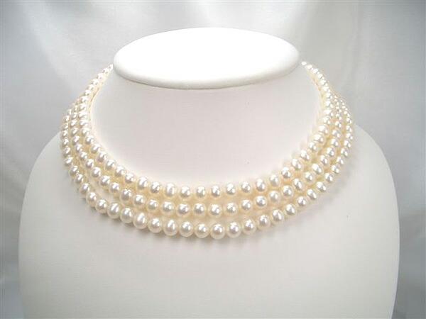 真珠ロングネックレス6.0〜6.5mm120cn