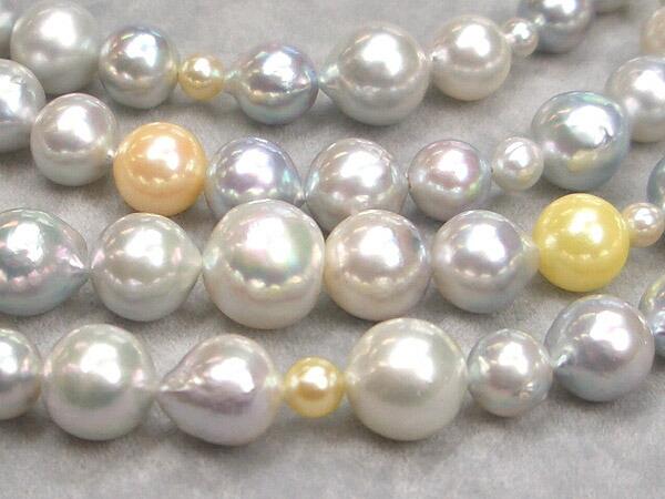 あこや真珠 マルチチカラー ネックレス