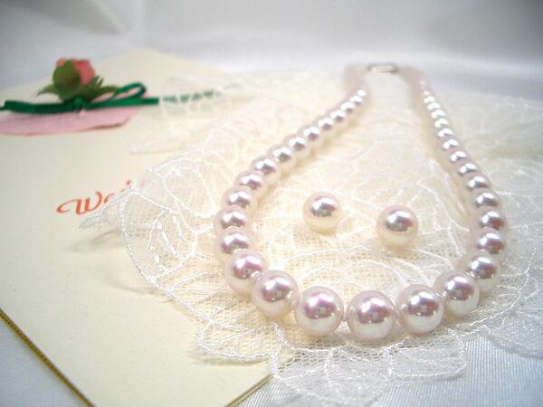高級花珠アコヤ真珠ネックレスセット