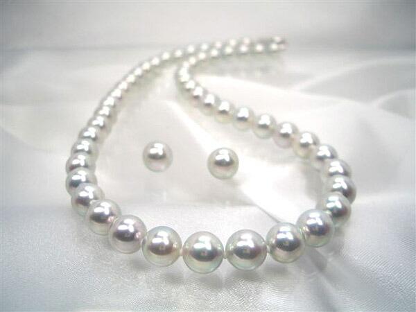 高級真多麻アコヤ真珠ネックレスセット