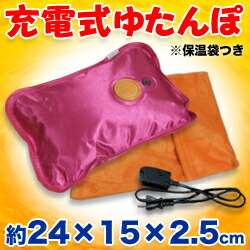 ☆冬の節電におすすめ! 電気でホットなゆたんぽ(FS-026) サイズ:約24×15×2.5cm