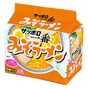 サンヨー食品サッポロ一番みそラーメン5食入×6個入り/箱〔ケース〕