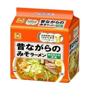 東洋水産昔ながらのみそラーメン5食入×6個入り/箱〔ケース〕