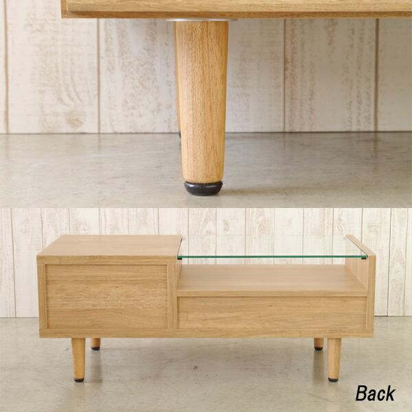 リビングテーブル 90 センターテーブル 木製 おしゃれ ブロンズガラス 90幅 ローテーブル ナチュラル 完成品 【送料無料】