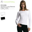 Two-color WOMEN's long sleeve fit T shirt S-XL size continental 05P10Nov13