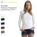 5 Colors WOMEN's vintage style long sleeved t-shirt XS-L size continental 05P10Nov13