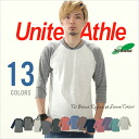 T shirt solid Tri blend 7-sleeves T shirt mens United Athle athle 13 color 4.4 oz XS-XL 05P10Nov13