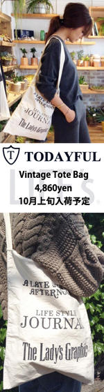TODAYFULトゥデイフル Vintage Tote トートバッグ 11521020