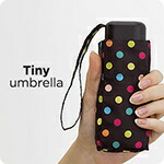 キウ [kiu] Tiny umbrella folding umbrella (umbrella parasol fair or rainy weather combined use)