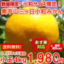 Spot sale only for the arrival! The thick fruit juice only by the small grain is 4 kg of mandarin orange small grain size for Okuhirayama three days when the expert of the unrivaled article ♪ competitive show winning prize puts great deal of effort and made it