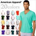American Apparel ファインジャージ V Neck T shirt