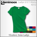 Short sleeve T-shirt (Lady's) which there is no Demi moon lib in