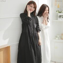 A long-sleeved cotton long dress