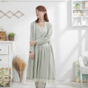 Long-sleeved embroidered lace 2 in 1 long A line dress