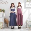 A sleeveless linen long dress