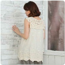 With popular back in stock x2 ★ sleeveless embroidered cotton blouse