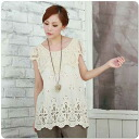 x1 ★ sleeveless embroidered cotton blouse