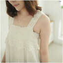 Sleeveless embroidered cotton inner PEC blouse
