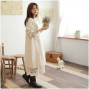 X 1 ★ long sleeve cotton A long dress