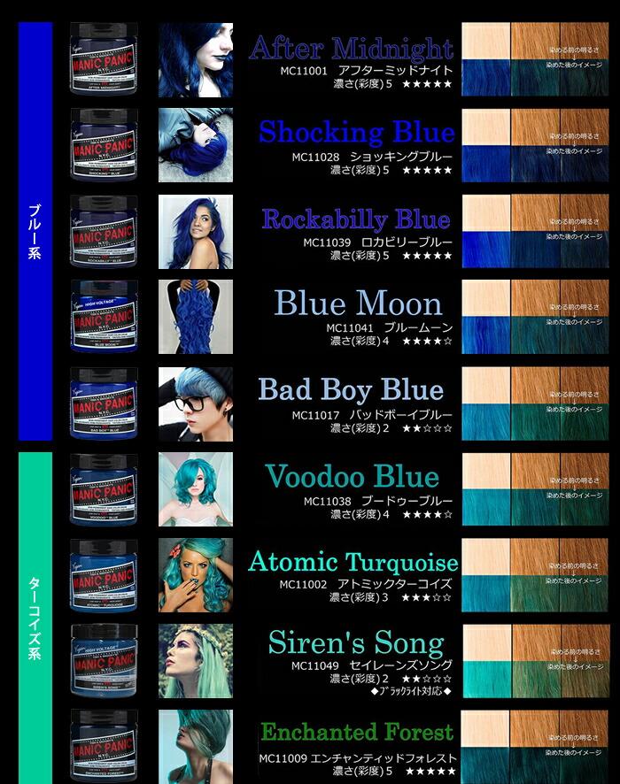 【楽天市場】【送料無料】マニックパニック 選べる ヘアカラークリーム <118ml>【ブルー・グリーン・オレンジ