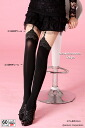 フェイクサイハイ tights (rose garter belt patterns) (black Black, made in Japan 60 denier) ♪ choose at time of purchase! pattern pantyhose sheer tights knee high faux garter pattern thigh ladies wedding 60 denier knee high stocking tights ladies!-z