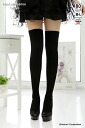 フェイクサイハイ (fake thai high) hard to run (80 d) (black Black Japan made) ♪ 1050 yen buying and selection in ♪ pattern stockings garter pattern knee high tights knee high stockings ladies wedding knee high stocking tights ladies!-z fs2gm
