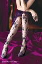 Rose mesh print stocking (made in Japan)-z fs04gm