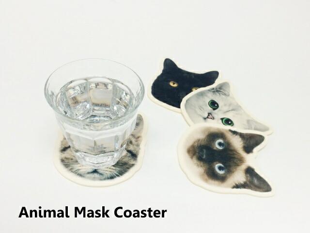猫 雑貨 コースター フェルト
